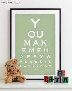 Nursery Art Print typography poster nursery by DallowayPlace