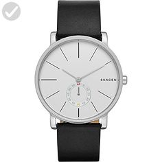 Skagen Men's SKW6274 Hagen Black Leather Watch - Watches its about time (*Amazon Partner-Link)