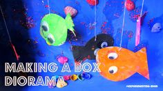 Make a box diorama from cereal box with your kids