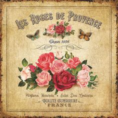 rosas provence servilleta mejor postal paris vintage ads © bruno pozzo 2016