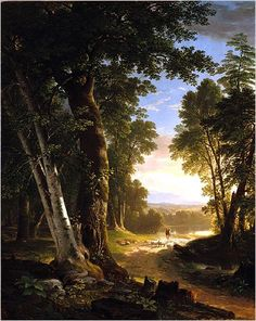The Beeches, 1845 Asher B. Durand of the Hudson River School, century American Art. Once again, beautiful nature and light. Oil Painting Pictures, Pictures To Paint, Painting Art, Landscape Art, Landscape Paintings, Traditional Landscape, Belle Photo, Canvas Art Prints, Framed Prints