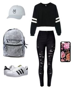 """OOTD"" by isabellamar4 ❤ liked on Polyvore featuring adidas Originals"