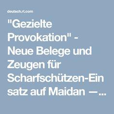 """""""Gezielte Provokation"""" - Neue Belege und Zeugen für Scharfschützen-Einsatz auf Maidan — RT Deutsch"""
