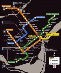Montreal's underground, extensive metro system goes for miles in and around the city. One of the reasons you can exist without a car. I was always on the green line.