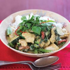 Green chicken curry | Australian Healthy Food Guide