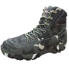 Spring Autumn Military Tactical Men Boots Camouflage Waterproof Canvas  Desert Combat Ankle Boot Men s Work Army Shoes 015d550f2f