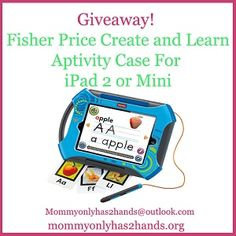 {#Giveaway} Fisher Price Create & Learn Apptivity Case. ENDS 3/2. via @TSayers