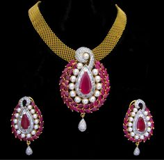 AD CZ Indian Gold & Silver Bollywood Bridal Necklace Ethnic Swam Jewelry 81