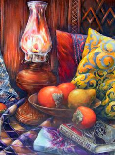 Original Orange Mood  Still life drawing in colored by paintingkim, $600.00