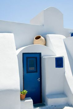 Santorini, white and blue