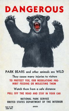 #sign #park #vintage #hike #outdoors #bear via It's Hard to Find a Friend
