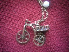 .Mini bike with basket charm