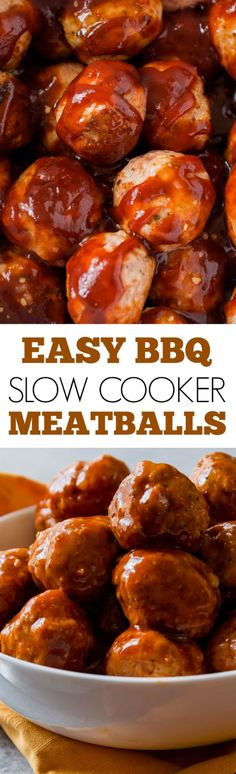 These slow cooker BBQ turkey meatballs are easy and full of flavor! An appetizer or dinner recipe solution for chilly weather days!!