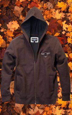 Winter Cotton Fleece Hoodie with Pocket for Men Mens Retro Style Chicken Silhouette Hooded Fleece