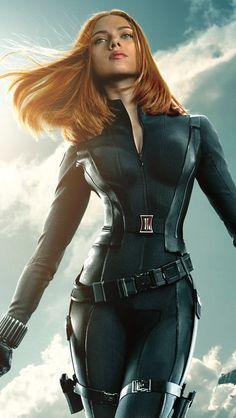 Black Widow In Captain America The Winter Soldier  #iPhone #5s #Wallpaper