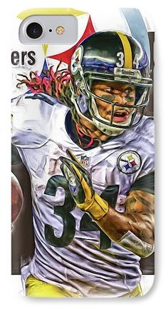 Deangelo Williams IPhone 7 Case featuring the mixed media Deangelo Williams  Pittsburgh Steelers Oil Art by 5807daa06