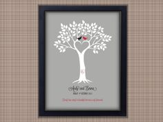 Framed Wedding Gift, Personalised Print, Unique Valentine Present, Anniversary £22.00