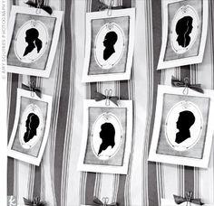 Love the idea of a silhouette artist!