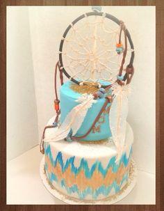 Dream catcher feather cake