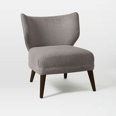 Retro Wing Chair in Feather Gray Retro Weave | west elm