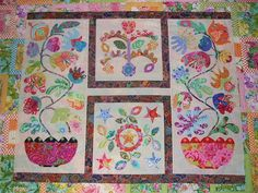 Kim McLean Flower Pots applique  love this