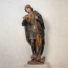 Saint Michael. Sculpture (wood, gilt & paint). c. 1530. Castile-Leon. Cloisters Collection