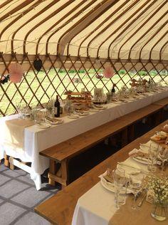 Yorkshire Yurts™ - Yurt Hire Based In North Yorkshire, UK Luxury Yurt, Luxury Travel, Yurt Interior, Trestle Table, North Yorkshire, Banquet, Corporate Events, Tent, Wedding Decorations