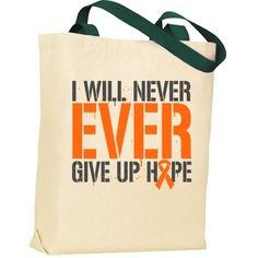 Wear this slogan with hope and defiance!  I Will Never EVER Give Up Hope powerful slogan on Skin Cancer shirts, apparel and unique gifts featuring an awareness ribbon in this bold text design with splatter elements #SkinCancer #SkinCancerawareness
