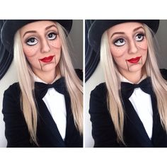 My ventriloquist doll makeup ♥️