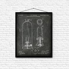 Bottle Breaking Fire Extinguisher Patent Print  1882 by PatentShop