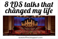 A Year of FHE: 8 LDS Talks that Changed My Life--worth looking at, so i'm pinning!