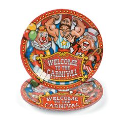 Carnival/Circus Birthday Party: Under The Big Top Dinner Plates