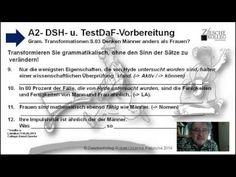 A2-DSH- u. TestDaF Vorbereitung S.03  Gram. Transf. Denken Männer u. Frauen