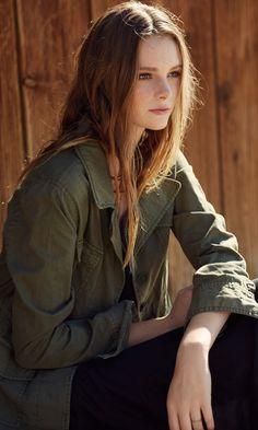 Best-Selling Army Jacket :: Velvet by Graham & Spencer