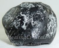 "Apache Tears: ""Apache Tears are a type of black Obsidian... but they have a more friendly vibration than some of the other types of Obsidian.    Maybe it is their strange out-of-shape appearance... that makes you comfortable with them.    They are strong stones for grounding and protection... and to aid you to clear negative emotions that may be holding you back."" More info, follow link."