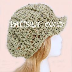 Instant Download Crochet Hat Pattern Bulky by SandyCoastalDesigns