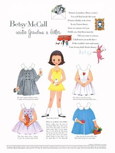 Betsy McCall Paper Dolls 1959 Jan-Apr