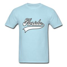 beautybridal Florida White Men's Lithe T-shirt Sky blue Large -- Awesome products selected by Anna Churchill