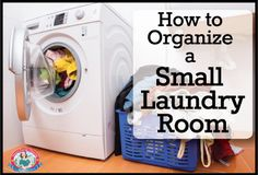 How to #Organize a Small #Laundry Room | Long Island House Cleaning