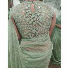 blouse designs Not for sale Designer Blouse Ideas . Tag your picture with to get featured on this page Netted Blouse Designs, Saree Blouse Neck Designs, Fancy Blouse Designs, Sari Design, Diy Design, Design Ideas, Net Blouses, Stylish Blouse Design, Designer Sarees