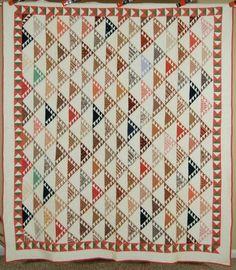 Museum Quality Vintage 1880's Birds in Flight Sawtooth Antique Quilt A Border | eBay