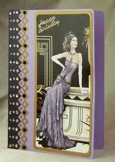 Card Making Project - A5 Art Deco Topper Card