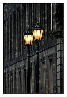 Victorian street lamps in Edinburgh