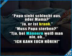 Papa ärgern macht Spaß :P #Männergrippe #Familie #Spaß #Spass #lustig #ärgern Laughing Quotes, Live Laugh Love, Fails, Fun Facts, Haha, Funny Pictures, Funny Quotes, Mantra, Kawaii