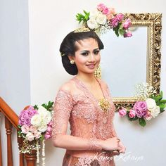 Kebaya Simple, Javanese, Traditional Clothes, Diy Wedding, Wedding Inspiration, Pink, Baby, Dress, Beautiful