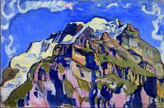 """スイスで""""国民画家""""として人気が高いフェルディナント・ホドラー(1853-1918)。同時代の 画家クリムトも高く評価したその作品は、「リズムの絵画」とよばれる躍動的な魅力をたたえている。 その表現は年代によってさまざまに姿を変えた。19世紀末には、取りつかれたかのように「死」や「 憂うつ」を題材とし、人間の深い闇を描いた。それが、20世紀に入ると一転して作品は「生」への意 志に満ち、しっかりした輪郭と鮮やかな色で表されるようになる。 作家の江國香織さんは「彼の変遷ぶりにひかれる。不思議な絵」と言う。国立西洋美術館で開催中の「 フェルディナント・ホドラー展」(日本では40年ぶりの個展)会場を訪ね、ホドラーの画業をたどる 。ホドラーが作品につけたタイトルにみる物語性、スイスの風景を描くことで「反復のリズム」を獲得 したこと、「永遠(踊る女性の群像)」と「限りあるもの(死の床にある... (via http://www.japantimes.co.jp/culture/2014/11/27/arts/beating-art-ferdinand-hodler/ )"""