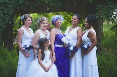 A Purple Feathers, Purple Hair & DIY Elegance: Jeni & Manny