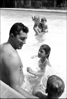 Dean Martin and his wife & children