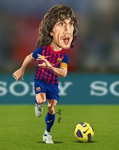Carles Puyol of Barcelona wallpaper.