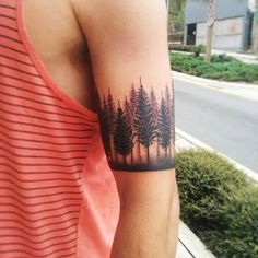 This tree line tattoo is awesome.